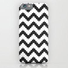 Funky chevron - black Slim Case iPhone 6s
