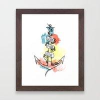 Hope Over Fear - Anchor Framed Art Print