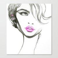 One Eyed Girl Canvas Print