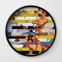 Glitch Pin-Up Redux: Far… Wall Clock