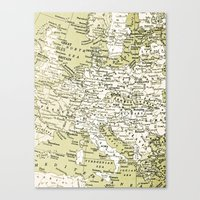 1938 Europe Canvas Print