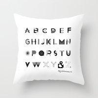 Modernissimo Font Throw Pillow