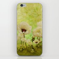 White Poppies iPhone & iPod Skin