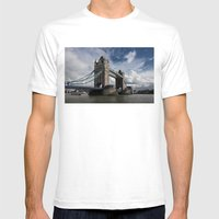 Tower Bridge, London Mens Fitted Tee White SMALL