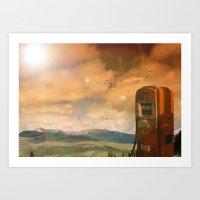 Old Fuel Pump Art Print