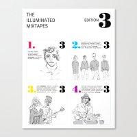 The Illuminated Mixtapes, Edition 3 Canvas Print