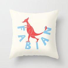 Fabianosaurus Throw Pillow