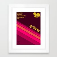 galaxy single hop Framed Art Print