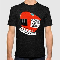 Life On Mars? Mens Fitted Tee Tri-Black SMALL