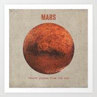 Art Print featuring Mars by Terry Fan