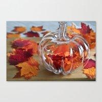 Pumpkin Vase Canvas Print