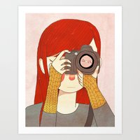 Behind The Lens Art Print