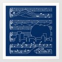 The Moonlight Sonata Blue Art Print