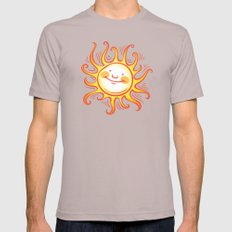 Shine On Mens Fitted Tee Cinder SMALL