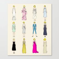 Marilyn Fashion Vintage Retro in Cream Canvas Print