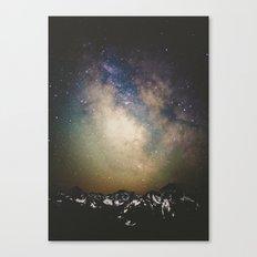 Erupting Galaxy Canvas Print