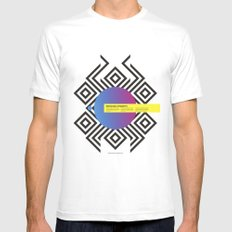 Impossible Symmetry - Circle White SMALL Mens Fitted Tee
