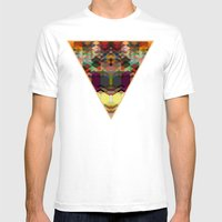 Triangle Affair Mens Fitted Tee White SMALL