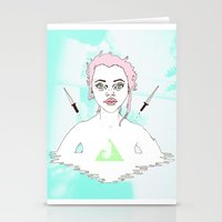 Acid Girl Stationery Cards
