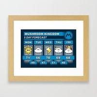 Mushroom Kingdom 5 Day W… Framed Art Print