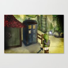 Two Worlds Collide (Doct… Canvas Print