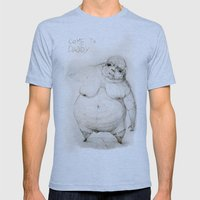 Come to daddy Mens Fitted Tee Athletic Blue SMALL