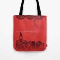 une nuit à paris (red version) Tote Bag