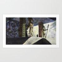 The Volcano Entrance Art Print