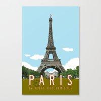 Paris 2 Travel Poster Canvas Print