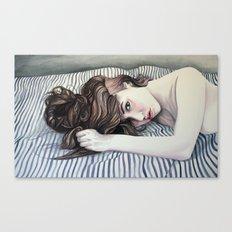 Striped Sheets Canvas Print