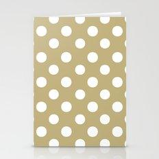 Polka Dots (White/Sand) Stationery Cards