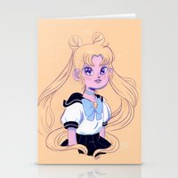 sailor moon Stationery Cards featuring Sailor Moon by Natali Koromoto