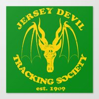 Jersey Devil Tracking Society Canvas Print