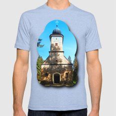 Maria Rast Forest Chapel… Mens Fitted Tee Tri-Blue SMALL