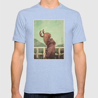 Last Year's Antlers Mens Fitted Tee Tri-Blue SMALL