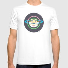 Spaceman 1 White SMALL Mens Fitted Tee