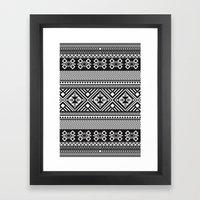 Monochrome Aztec Inspire… Framed Art Print
