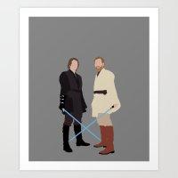 Anakin And Obi Star Wars… Art Print