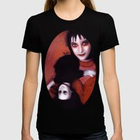 Lydia Deetz Womens Fitted Tee Black SMALL
