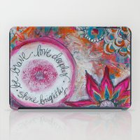 Be Brave. Love Deeply. S… iPad Case