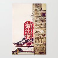 Heritage Boots Canvas Print