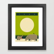 TOGO Travel Poster Framed Art Print
