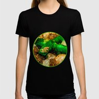 EMERALDS Womens Fitted Tee Black SMALL