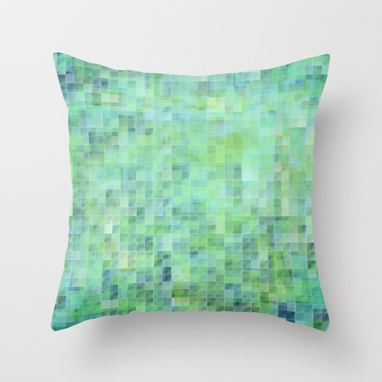 Moody Pixels Throw Pillow
