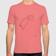 One line Rocketeer Mens Fitted Tee Pomegranate SMALL
