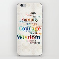 Colorful Serenity Prayer… iPhone & iPod Skin