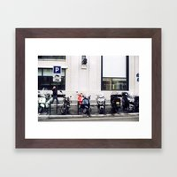 streets of paris Framed Art Print