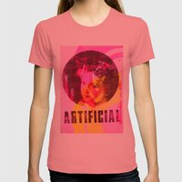 Artificial Single Womens Fitted Tee Pomegranate SMALL