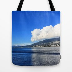 Blue vs. White Tote Bag