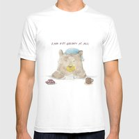 grumpy bear Mens Fitted Tee White SMALL